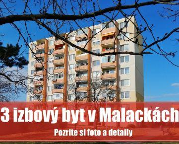 Skutočne priestranný 3 izbový byt v Malackách poskytne pohodlný domov vašej rodine