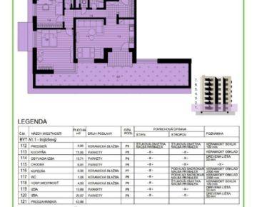 FOX - 3 izbový byt * NOVOSTAVBA * projekt MEANDER * Sereď * s vlastnou záhradkou o výmere 44 m2