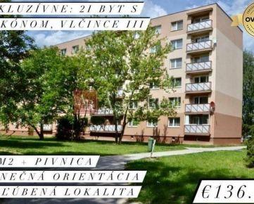 EXKLUZÍVNE: Slnečný 2i byt s balkónom, 65 m2, Vlčince, Žilina