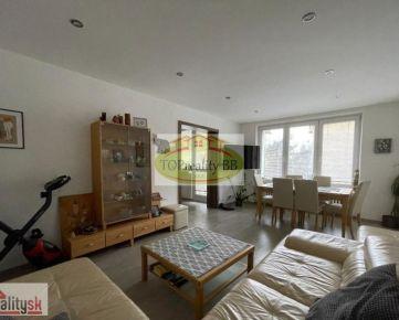 Rezervovaný - TOP PONUKA !!!  tehlový trojizbový byt 91 m2,  v B. Bystrici - centrum – po kompletnej rekonštrukcii -  Cena 254 000€