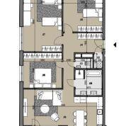 4-izb. byt 126m2, pôvodný stav