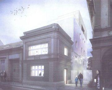 Projekt menšej polyfunkcie (bývanie + nebytový priestor) v centre Bratislavy - so STAVEBNÝM POVOLENÍM