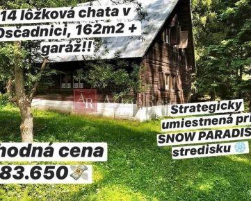 PREDAJ: Veľká 14-lôžková chata v Oščadnici, 162m2