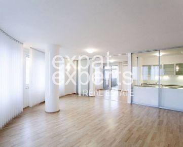 Priestranný 5i byt, 145 m2, čiastočne zariadený, parking, terasa