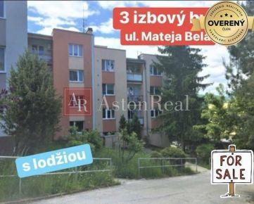 NA PREDAJ: 3izb. byt s lodžiou, ul. Mateja Bela, B. Bystrica