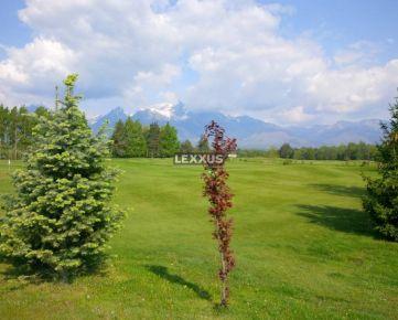 LEXXUS-PREDAJ, jedinečný st. pozemok v golfovom rezorte pod Tatrami