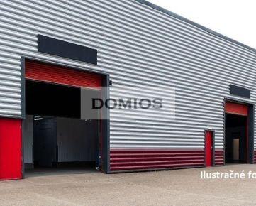 DOMIOS   predaj výrobno-skladového komplexu (10.200 m2, poz. 14.700 m2, naklad. rampy, parking)