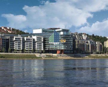BA I Staré Mesto River Park predaj 4 izbového exkluzívneho bytu s 2x terasami s výhľadom na Dunaj s 2x garážovým státím