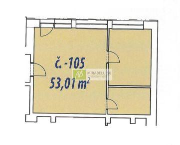 Nebytový priestor v štandarde v centre mesta - Gunduličova ul, 53 m2