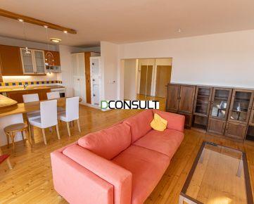 PRENÁJOM, priestranný a zariadený 4 izbový byt 120m2  na Drotárskej ceste s fínskou saunou, 1x parkovacie státie v podzemnej garáži