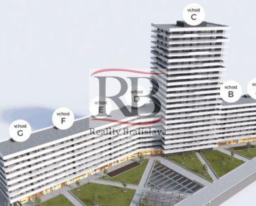 Na predaj 1 izbový byt na Bajkalskej ulici v Novom Meste, novostavba Tehelné Pole