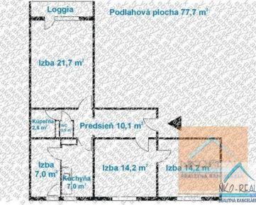 3,5 izb. byt, JESENNÁ ul., loggia, 3.p./6, po komplet. REKONŠTRUKCII