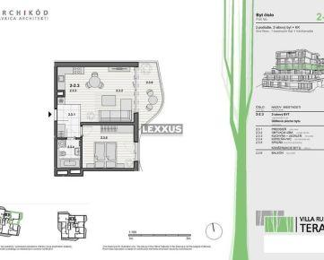 LEXXUS-PREDAJ, 2-izbový byt v projekte VILLA RUSTICA-TERASY 2, Dúbravka