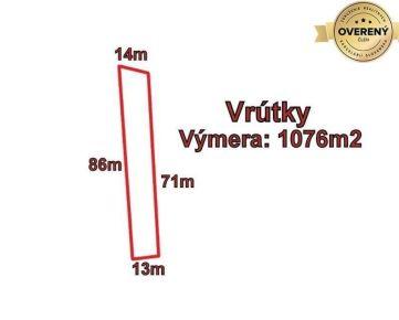 VRÚTKY - pozemok 1076m2, okr. Martin