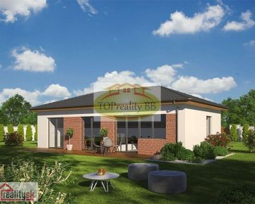 Novostavba bungalov 4 + KK 81 m2, na kľúč, Banská Bystrica Cena 69 300€