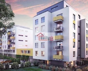 Moderný dvojizbový byt s garážovým státim v peknej architektúre v mimoriadne perspektívnej lokalite s výbornou dostupnosťou