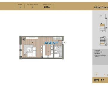 AGENT.SK | Novostavba 1-izbový byt 1.1 v Starom Meste