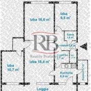 4-izb. byt 77m2, kompletná rekonštrukcia