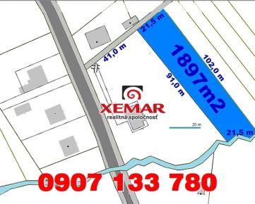 Predaj- stavebný pozemok- 16,-€/m2- 1 897 m2- Detva- Kostolná