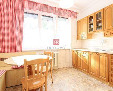 HERRYS - na prenájom svetlý zariadený 3 izbový byt v tichej a zelenej časti Rača