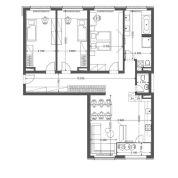 4-izb. byt 117m2, vo výstavbe