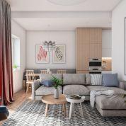 2-izb. byt 63m2, novostavba