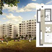 1-izb. byt 27m2, pôvodný stav