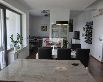 Prenájom luxusného slnečného 5 izb. bytu pod Bôrikom, ul. Kráľovské údolie s pekným výhľadom