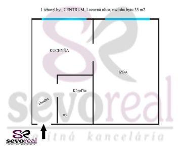 *** BLÍZKE PRIAME CENTRUM *** 1 izbový byt B.Bystrica, CENTRUM MESTA 35 m2