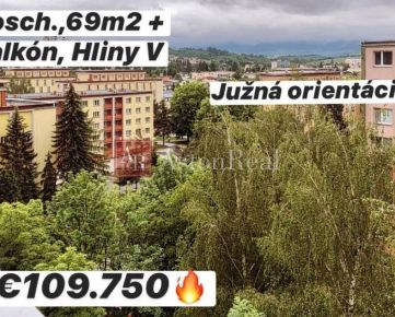 INVESTÍCIA: 2-izbový byt Hliny V, 8. posch, 69 m2, Žilina - ul. Hlinská