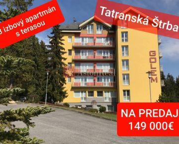 Apartmán 3-izbový - Vysoké Tatry - Tatr. Štrba, s terasou