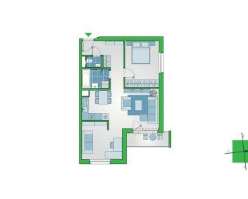 2-izbový byt s lodžiou v novostavbe NUPPU, Ružinov (D1101)
