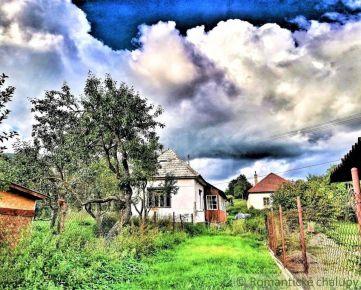 Menší domček/chalupa v pokojnej dedinke neďaleko vodnej nádrže Ružiná