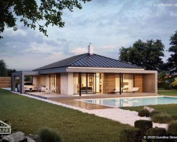 4 izbové rodinné domy s dvoma kúpeľňami, terasou a prístreškom na auto