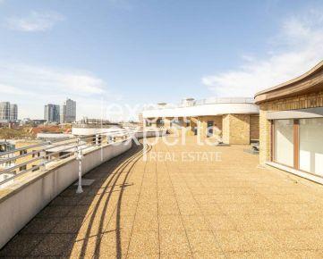 Výnimočný 4, 5i byt, 138m2, 4 x terasy 215m2, parkovanie, výhľad, Gaudí