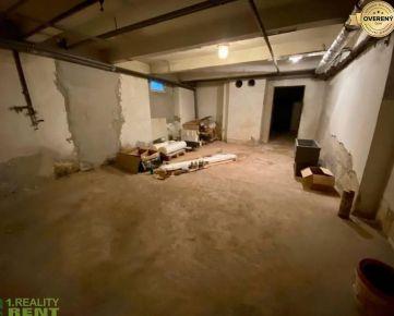 Prenájom - suterénny priestor 130 m2 Vojtecha Tvrdého v centre Žiliny
