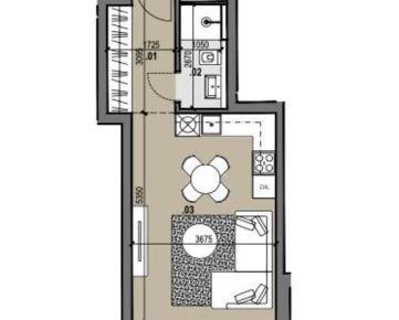 1i byt v novostavbe Zelené Vlčince /C.207