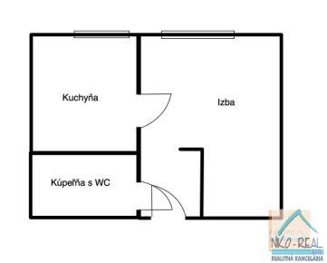 1 izb. byt v tichom prostredí, STARÉ ZÁHRADY, po novej rekonštrukcii