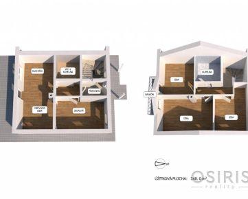 Novostavba: Slečný, zariadený 5i dom, Dlhá ulica, obec Zálesie