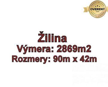 ŽILINA - Bánová, pozemok 2869 m2 na komerčné účely