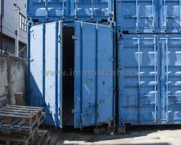 Kontajnery na uskladnenie tovaru 80 m3 na prenájom na Ul.Stará Vajnorská