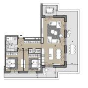 4-izb. byt 161m2, vo výstavbe