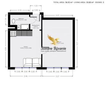 REZERVOVANÉ!!!Exkluzívne!!! Veľký 1 izbový byt v obľúbenej lokalite v Radvani na predaj