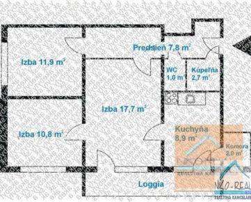 3 izb. byt, KUKLOVSKÁ ul., zrekonštr. podľa Vašich predstáv