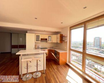 Prenájom 2 izbová zariadená  novostavba s recepciou a strážnou službou, 65 m2 + balkón, Ružinov ulica Záhradnícka,