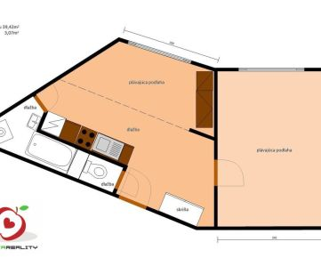 TRNAVA REALITY, s.r.o. Vám ponúka na predaj 1 - izbový byt po kompletnej rekonštrukcií v meste Trnava na ulici Andreja Kubinu