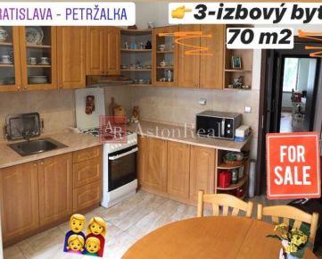 3 izbový byt, 70 m2 po rekonštrukcii, Andrusovova ul, Bratislava V