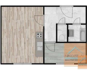 Kompletne novozrekonštruovaný 1,5 izb. byt, ŽARNOVICKÁ ul.