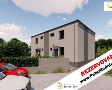 * * *     R E Z E R V O V A N É    * * *    Rodinný dom - Novostavba, pasívny, 5 izbový (123m2), na Jazdeckej ulici v Prešove