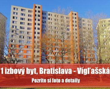 1 izbový byt v Petržalke na Vígľašskej je zrekonštruovaný, zariadený a čaká na vás...